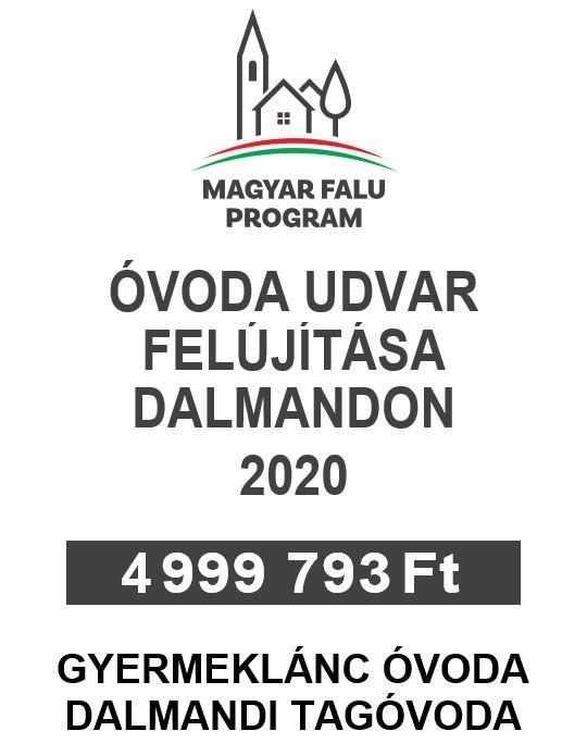 ÓVODA UDVAR FELÚJÍTÁSA DALMANDON 2020